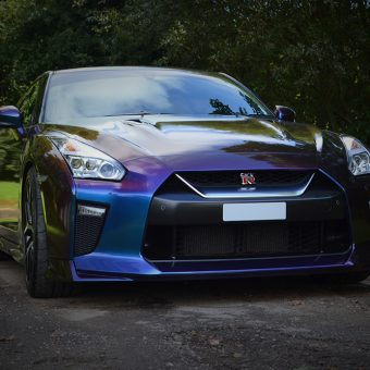 Nissan GTR Wrap Rushing Riptide Front
