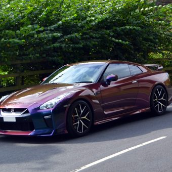 Nissan GTR Wrap Rushing Riptide Front Side