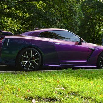 Nissan GTR Wrap Rushing Riptide Side