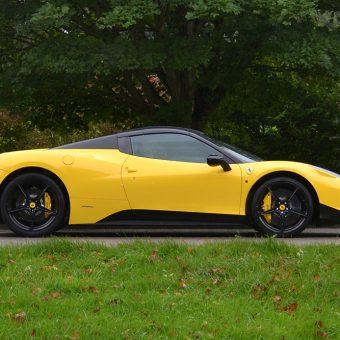 Ferrari 458 Yellow Roof Wrap Details Side
