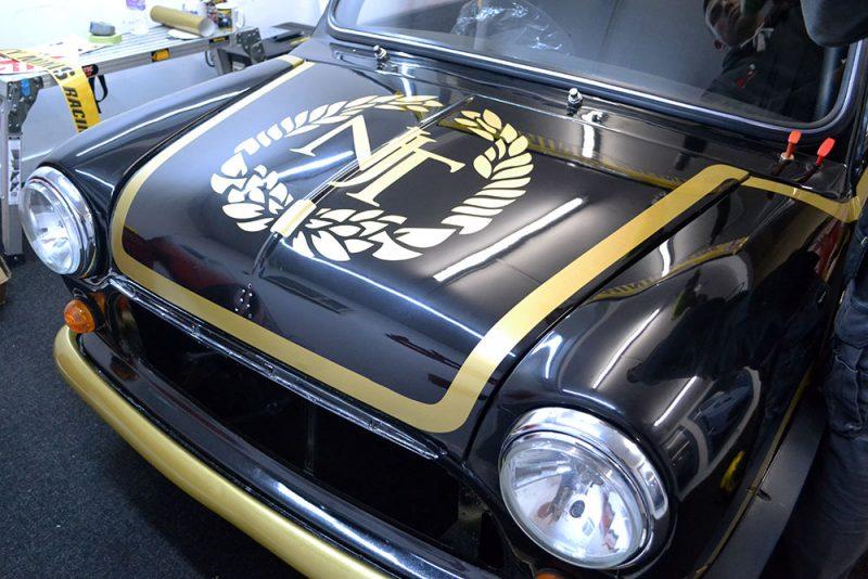Classic Mini Race Graphics Bonnet
