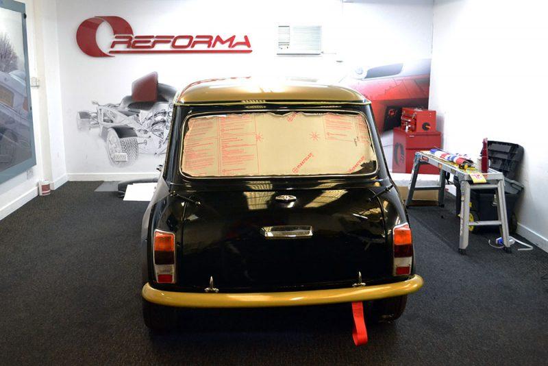 Classic Mini Race Graphics Rear