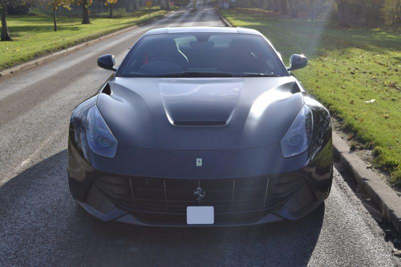 Kahn Ferrari F12 Satin Black-Detailing Front Project Kahn