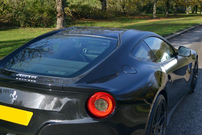 Kahn Ferrari F12 Satin Black-Detailing Reforma UK Close Up