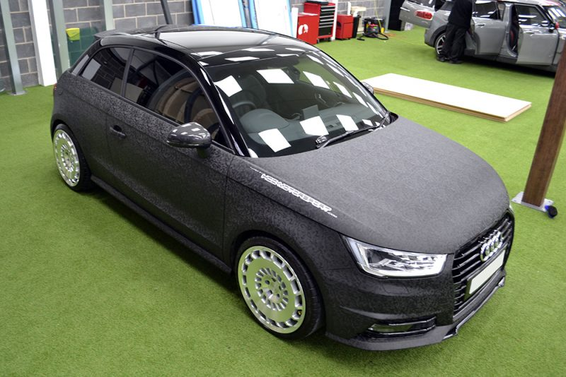 Audi A1 HCC Wrap 3M 1080 Shadow Black Front