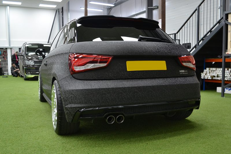 Audi A1 HCC Wrap 3M 1080 Shadow Black Rear