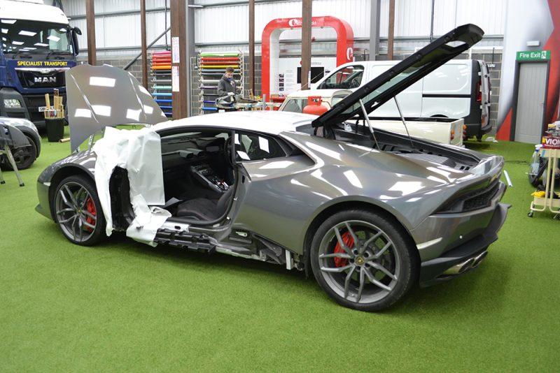 Lamborghini Huracan 3M Psychedelic Wrap Stripped Down