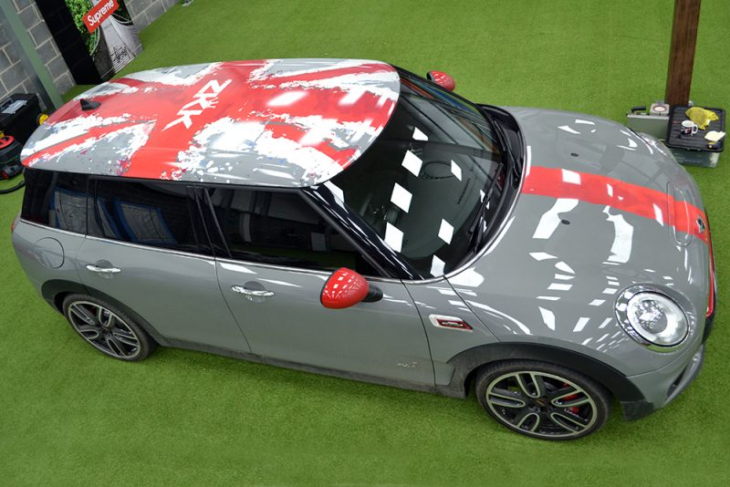Mini Countryman Custom Roof Wrap Zak Kahn Above