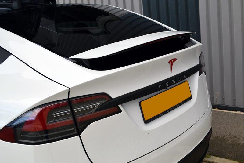 Tesla Model X De-chrome Wrap Rear