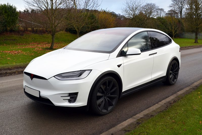 Tesla Model X Dechrome Wrap Reforma UK