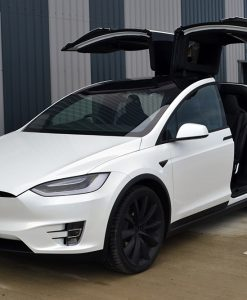 Tesla Model X Dechrome Wrap Reforma UK Doors Open