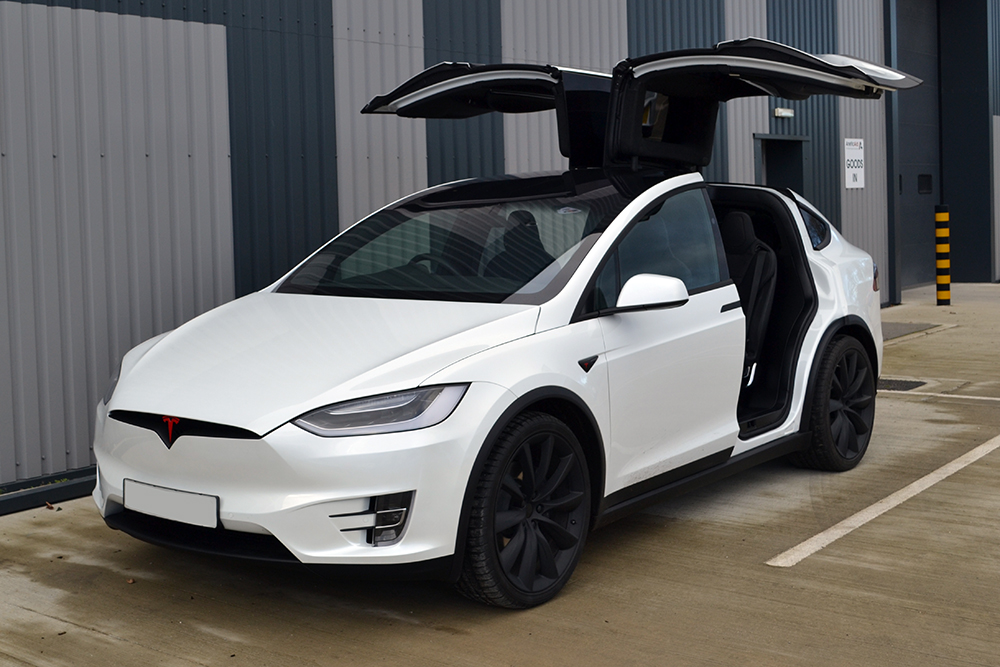 Chrome Car Wrap >> Tesla Model X De-Chrome - Reforma UK