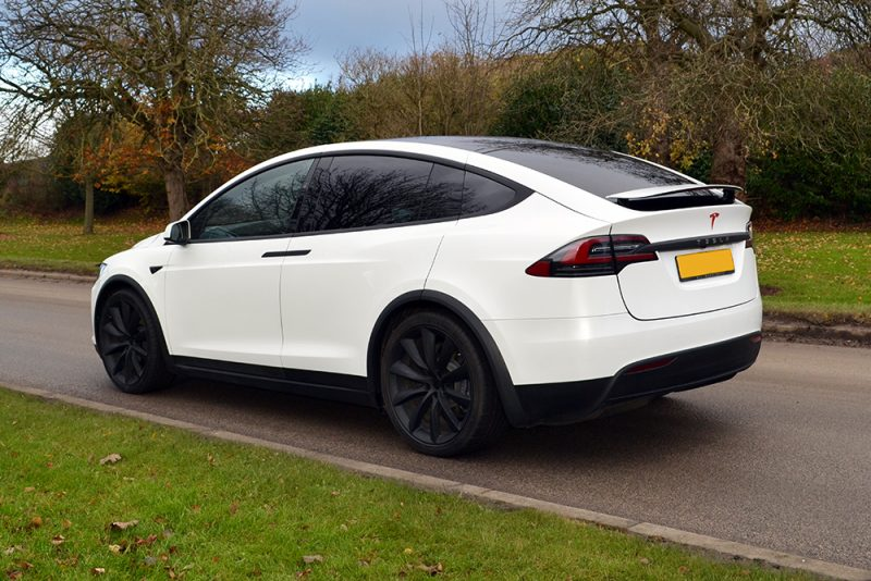 Tesla Model X Dechrome Wrap Reforma UK Rear