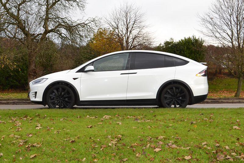 Tesla Model X Dechrome Wrap Side UK
