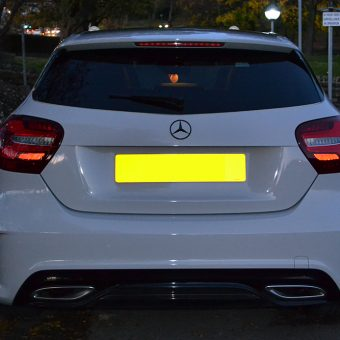 Mercedes A Class 3M 1080 Storm Grey Wrapped Rear