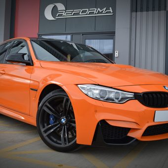 BMW M3 Gloss Burnt Orange Reforma UK Front