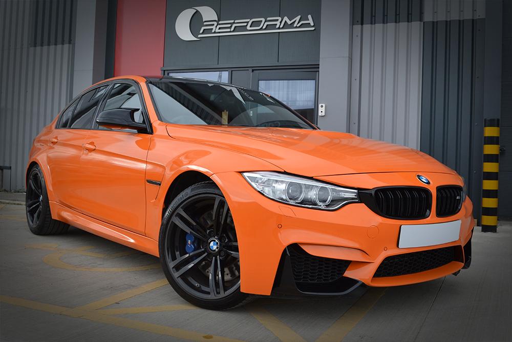 BMW M3 Gloss Burnt Orange Reforma UK Front