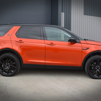 Land Rover Discovery Wrapped 3M 1080 Gloss Fiery Orange Side