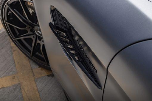 Mercedes Benz AMG GTR Satin Black Detailing Side Badge