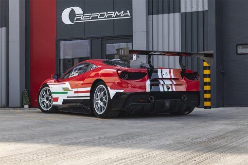 Ferrari 488 Challenger Stripe Package Rear Three Quarter