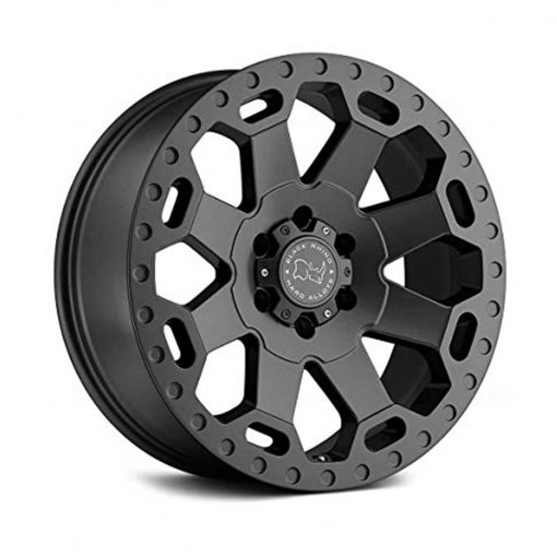 Black Rhino Warlord Grey Wheel with Painted Finish
