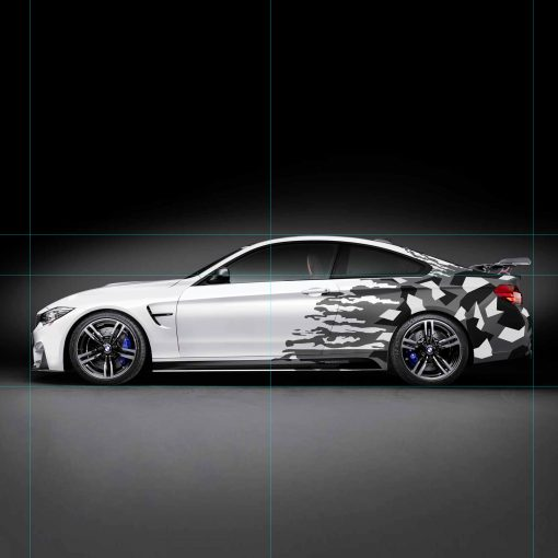 BMW M4 Coupe Crushed Carbon Vehicle Wrap Side