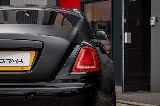 Rolls Royce Wraith Black Vehicle Wrap Rear Headlight