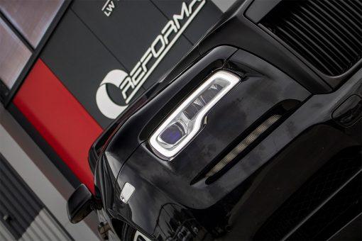 Rolls Royce Wraith Black Vehicle Wrap Front Headlight