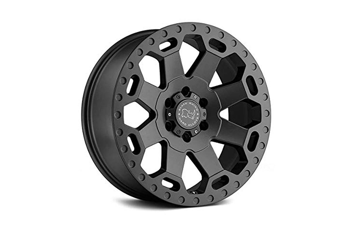 """<h3></noscript>20"""" Black Rhino Warlord Grey Wheel with Painted Finish</h3><p>One of the most popular in Black Rhinos selection of off-road wheels, is the 20″ Warlord. In a striking Matte Grey finish, complemented by a deep concave centre. Also available with a copper face.</p><h4>from <span>£1320</span><br />inc. VAT</h4>"""