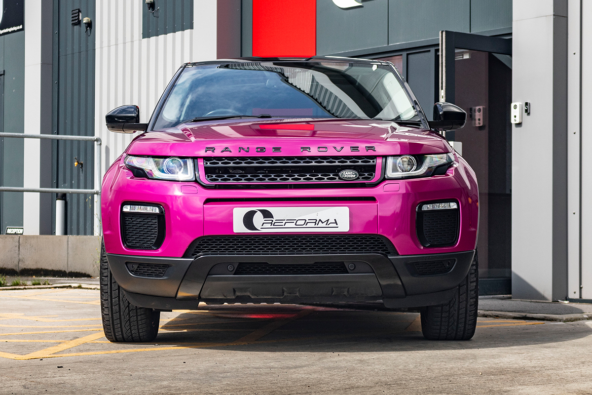 Car Vinyl Wrap For Sale >> Range Rover Evoque 3M Gloss Fierce Fuchsia - Reforma UK
